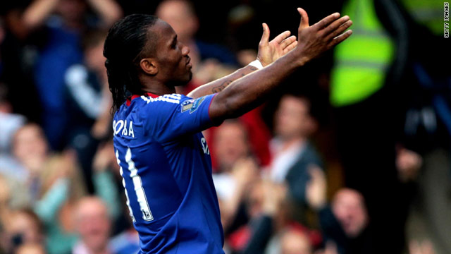 Didier Drogba moved up to sixth on Chelsea's all-time scorers' list after his treble against West Brom.