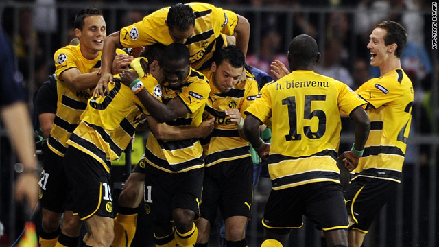 Young Boys' players were delighted after taking a 3-0 lead at home to English club Tottenham on Tuesday.