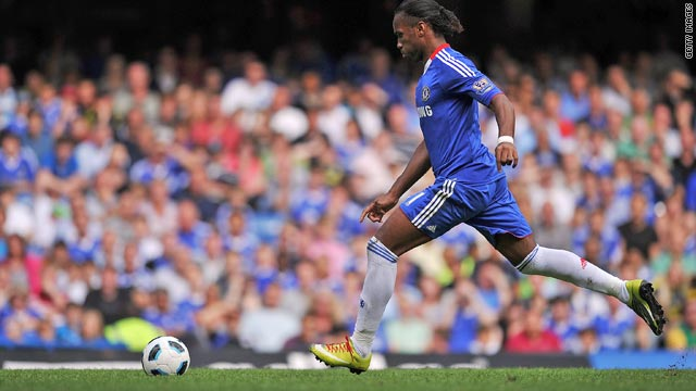 Chelsea's Didier Drogba was on target again in the 2-0 win over Stoke City at Stamford Bridge.