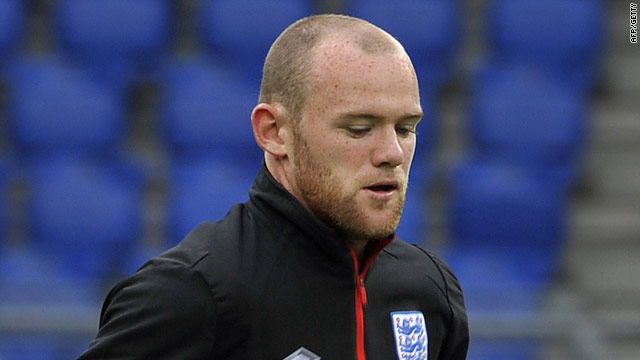Wayne Rooney trains at St. Jakob Stadium in Basel ahead of the match against Switzerland.