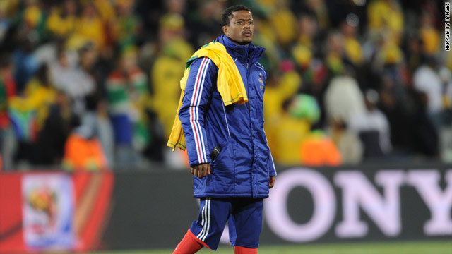 Evra suffered a dismal World Cup finals as France came home in disgrace without a victory in three games.