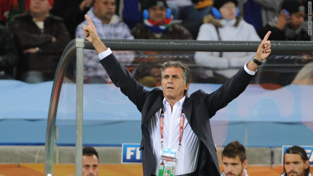 Porr results on the pitch and a row with doping officials off it has caused Queiroz to lose his job.