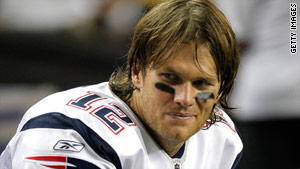 New England Patriots quarterback Tom Brady was at football practice after Thursday's wreck.