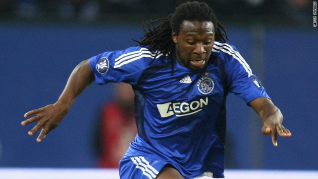 Evander Sno had a heart attack while playing for Ajax's reserves against Vitesse Arnhem on Monday.