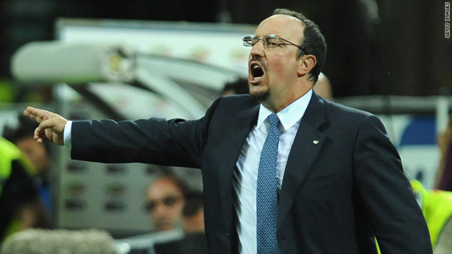 Rafael Benitez tries to inspire his team during the 2-2 draw with FC Twente.