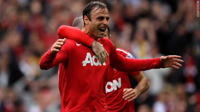 Dimitar Berbatov scored the first Manchester United hat-trick against Liverpool in 64 years.