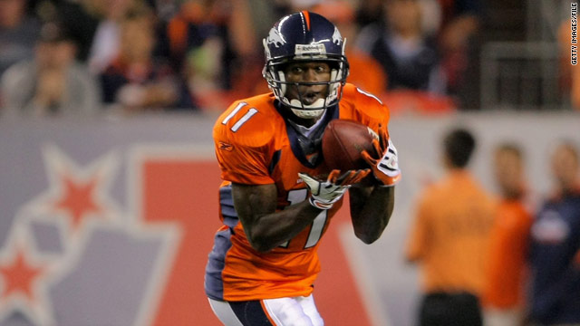 Kenny McKinley played in eight games with the Broncos as a rookie, but he was placed on injured reserve this season.