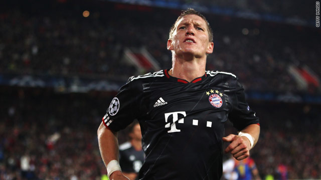 Bastian Schweinsteiger secured three points for Bayern with two second half goals.