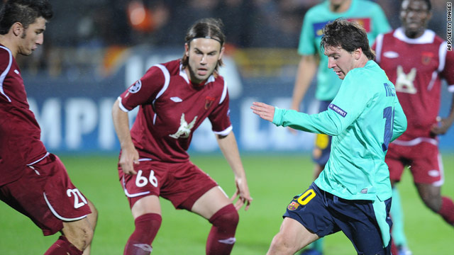 Lionel Messi returned to the Barcelona side fo0llowing injury in the 1-1 draw at Rubin Kazan.