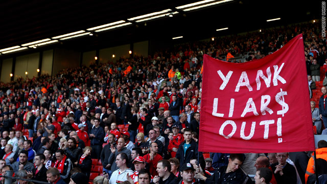 Liverpool's boardroom turmoil has prompted angry protests by supporters.