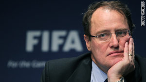 """Today is a sad day for football and for FIFA,"" Claudio Sulser, chairman of FIFA's ethics committee, said Wednesday."