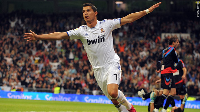 online store e2a5b 9e39e Ronaldo nets four as Real rout Santander; Messi double sinks ...