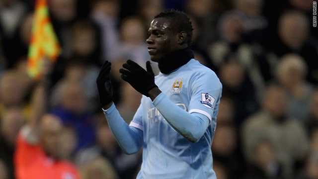 Mario Balotelli will miss Manchester City's derby clash with Manchester United after his dismissal on Sunday.