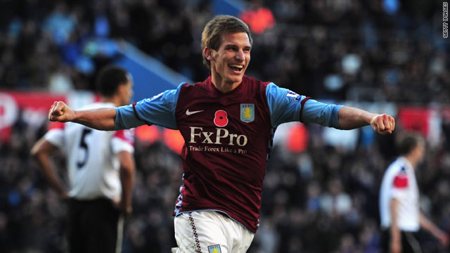 Marc Albrighton put Aston Villa two-up at home to Manchester United before the visitors hit back.