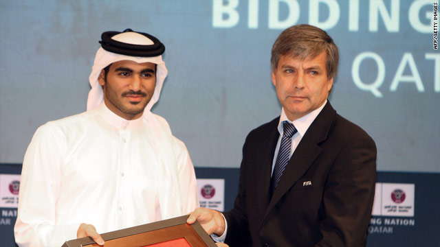 FIFA inspector Harold Mayne-Nicholls met Qatar's bid chairman Sheikh Mohammed bin Hamad bin Khalifa in September.