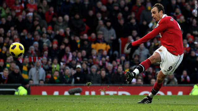 Dimitar Berbatov scored five goals in Manchester United's 7-1 demolition of Blackburn Rovers at Old Trafford.