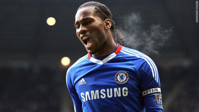 Chelsea's stand-in captain Didier Drogba was frustrated after having a second-half effort ruled out for handball.