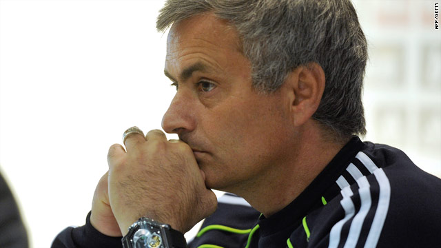 Mourinho must sit it out for one Champions League tie with another suspended.