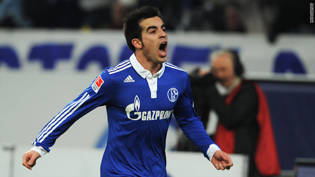 Jose Manual Jurado put Schalke on the road to victory against Bundesliga champions Bayern Munich.