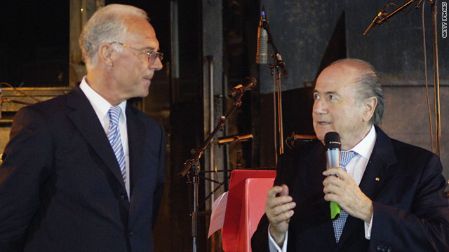 Franz Beckenbauer, seen here with FIFA president Sepp Blatter, says he has lost faith in FIFA.