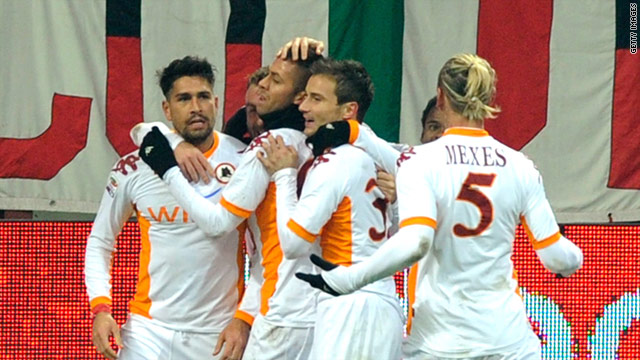 Marco Borriello came back to the San Siro to score the winner for Roma.