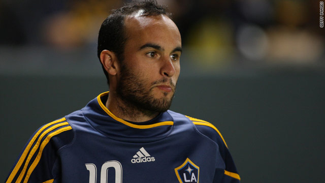 Landon Donovan scored seven goals in 27 MLS games for Los Angeles Galaxy last season.