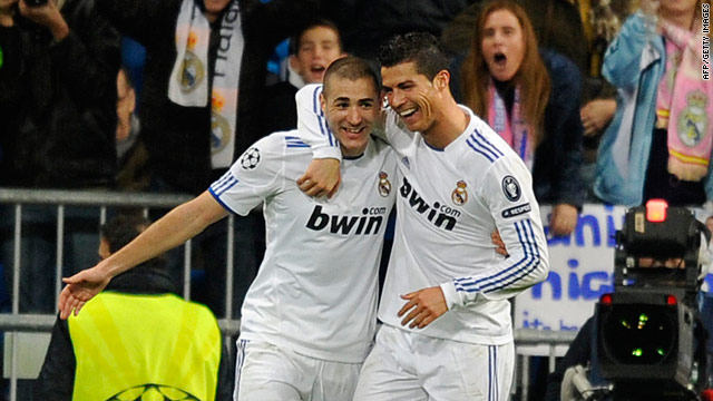 Karim Benzema and Cristiano Ronaldo scored six goals between them as Real Madrid crushed Levante.