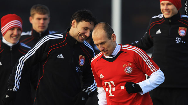 Arjen Robben rejoined his Bayern Munich teammates in full training earlier this month.