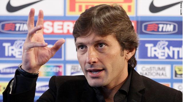Brazilian coach Leonardo has taken over in the Inter Milan hot seat from Rafael Benitez.