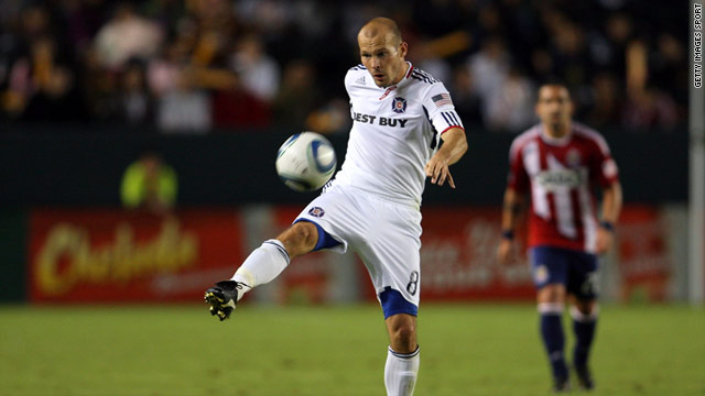 Freddie Ljungberg in action for the Chicago Fire.