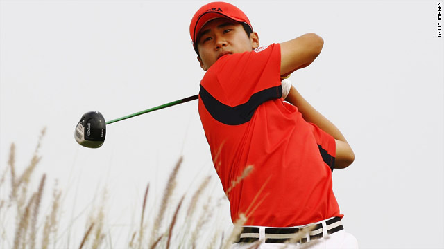 Korean Kim Do-Hoon leads the way by one stroke after 36 holes of the Chinese Open.