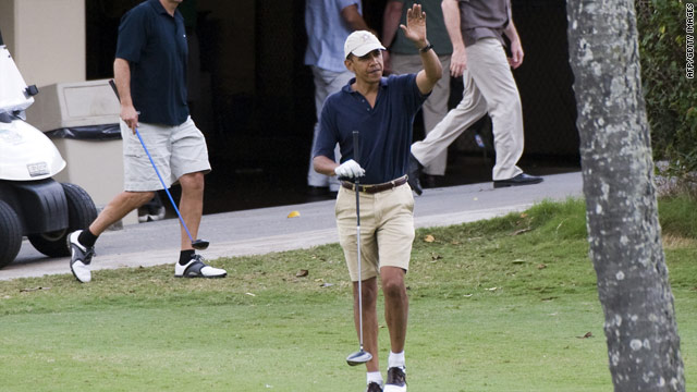 President Barack Obama has played more golf than George Bush did during his entire period in the White House.