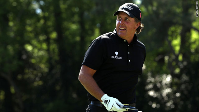 Mickelson charged to victory on the final day of the Masters at Augusta.