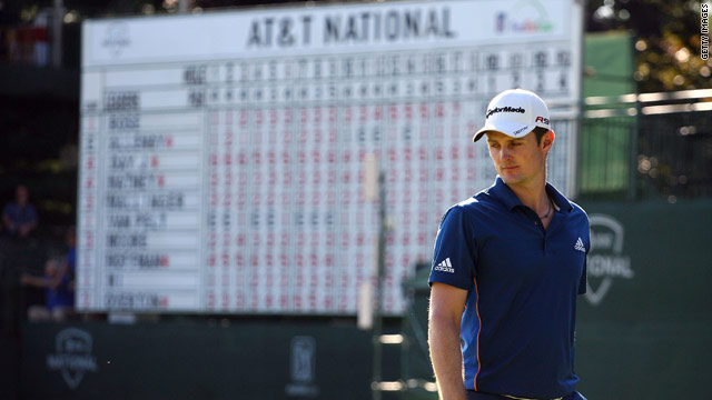 England's Justin Rose is the halfway leader at the AT&T National in Pennsylvania.