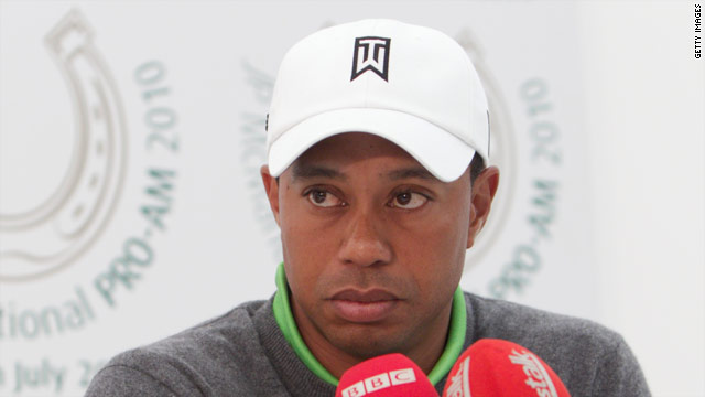 World No. 1 Tiger Woods played at an invitational pro-am event at Adare Manor in Ireland on Tuesday.