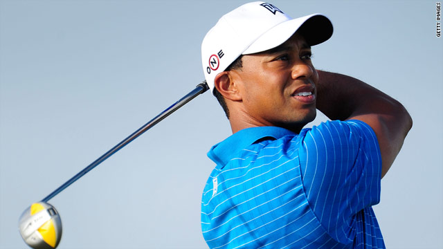 Tiger Woods launches his bid for a third straight Open Championship win at St Andrews on Thursday.