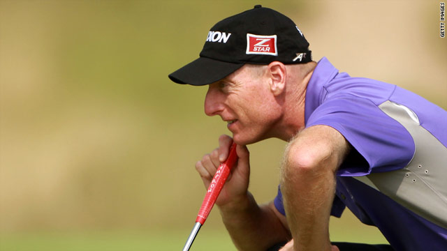 Jim Furyk missed his tee-off time because his alarm ran out of power.