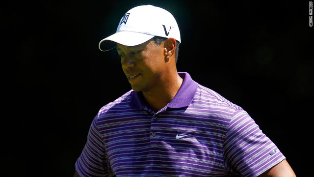 Tiger Woods reflects on another frustrating day during his third round at the The Barclays tournament in New Jersey.