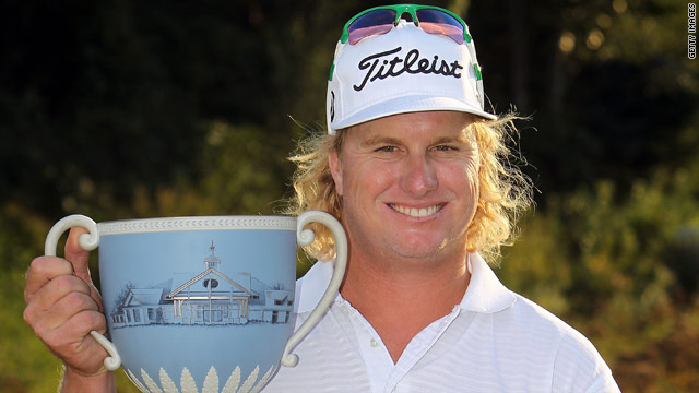 Charley Hoffman made 11 birdies in his final round to win the Deutsche Bank Championship in Norton, Massachussets.