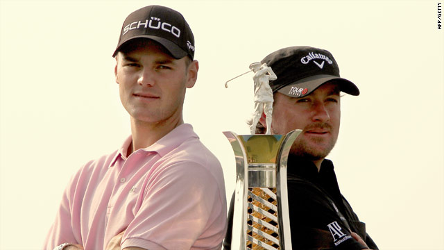 Martin Kaymer (left) and Graeme McDowell are in a two-man race for European Tour top spot.