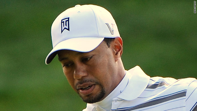 Tiger Woods pockets another birdie on his way to a four-under third round 68 in California.