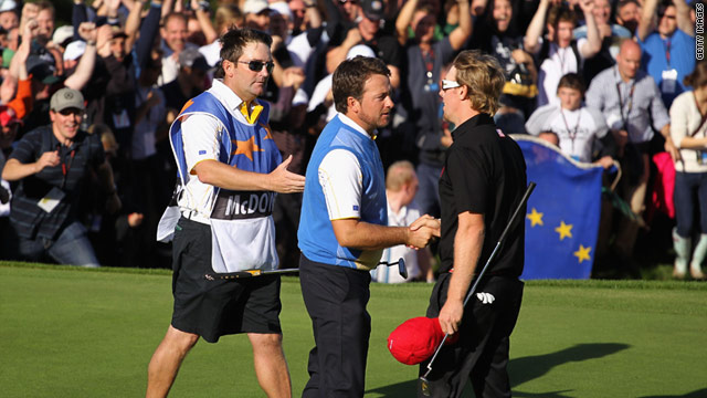 Graeme McDowell and Hunter Mahan's meeting in Hawaii next week will bring back memories of their decisive Ryder Cup match.