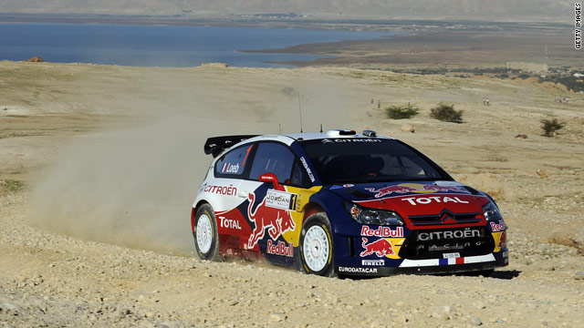 Sebastien Loeb's Citroen is 24 seconds of his rivals going into the final day of the Rally of Jordan.