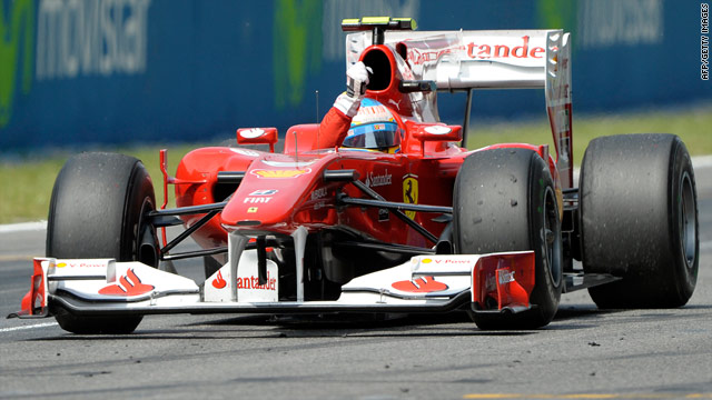 Fernando Alonso finished second at the Spanish Grand Prix with the assistance of an f-duct system in his Ferrari.