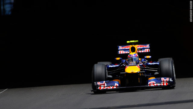 Mark Webber looks well poised to claim victory in Sunday's Monaco GP after going fastest in qualifying.