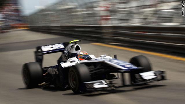 Williams driver Nico Hulkenberg before his crash at the Monaco Grand Prix.