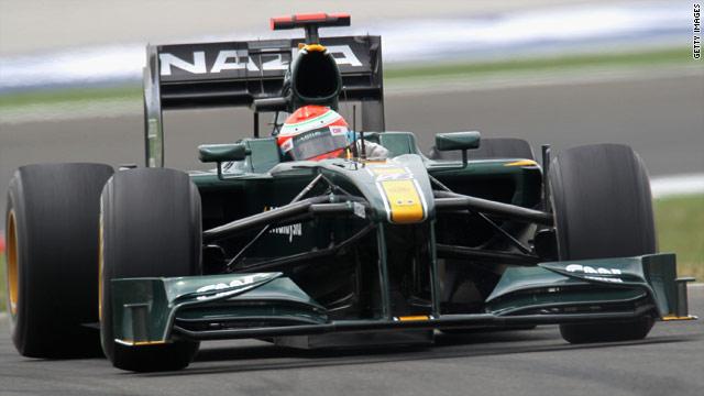 Jarno Trulli in this season's Lotus car.
