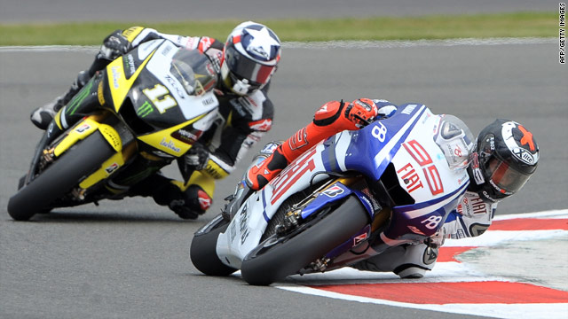 Jorge Lorenzo, right, is on track to extend his lead in the world MotoGP championship standings.