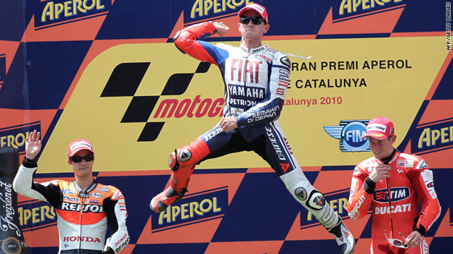 Jorge Lorenzo makes it three out of three as he wins at the Catalunya MotoGP in Spain.