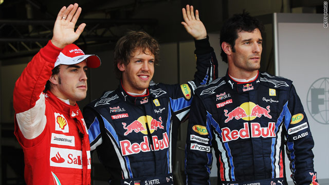 Sebastian Vettel secured his fifth pole position of the 2010 season at the British Grand Prix at Silverstone.